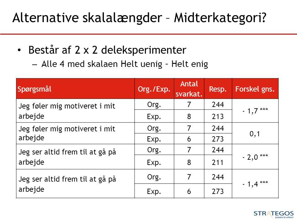 Alternative skalalængder – Midterkategori