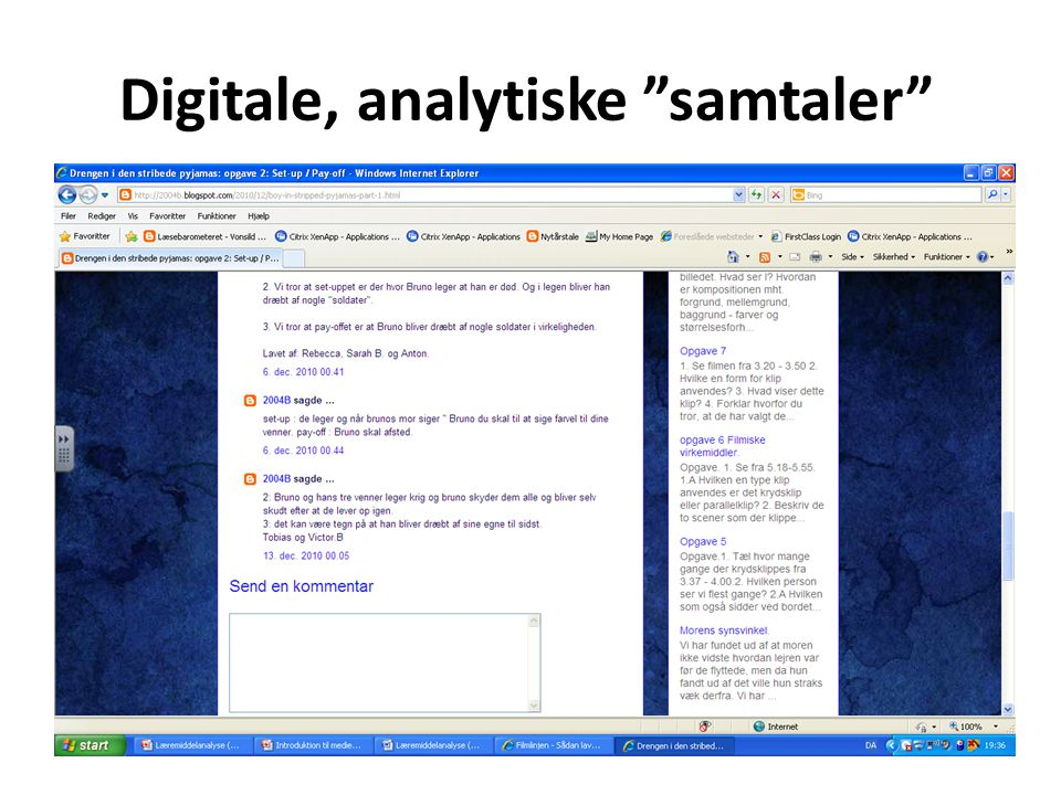 Digitale, analytiske samtaler