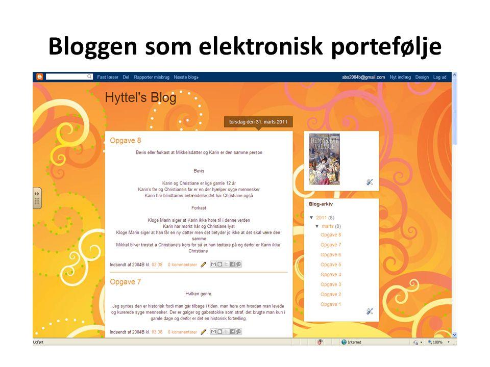 Bloggen som elektronisk portefølje