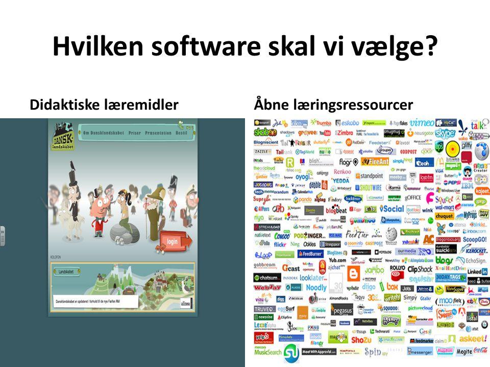 Hvilken software skal vi vælge