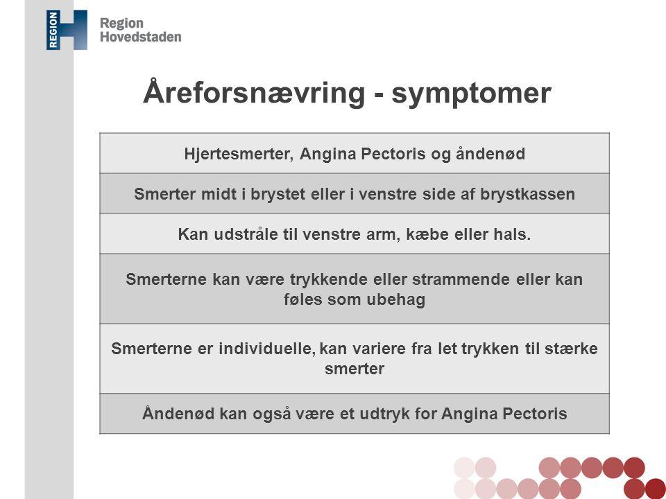 Åreforsnævring - symptomer