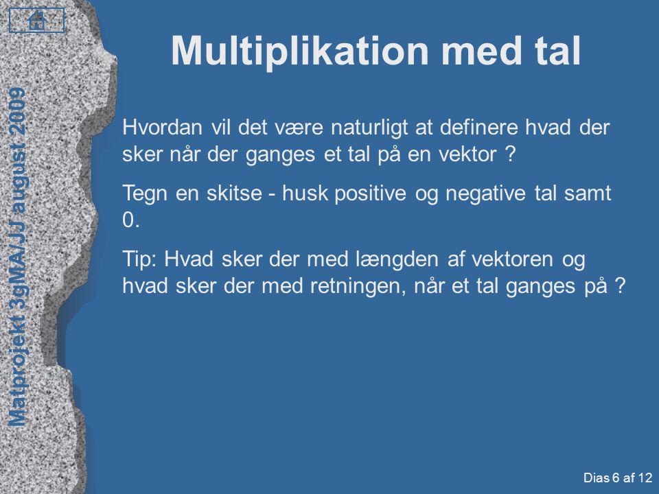 Multiplikation med tal