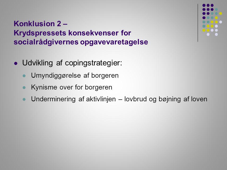 Udvikling af copingstrategier: