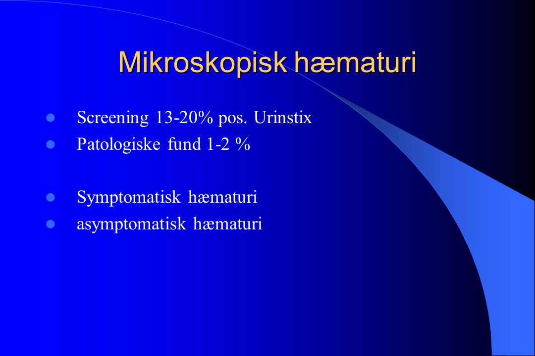 Mikroskopisk hæmaturi