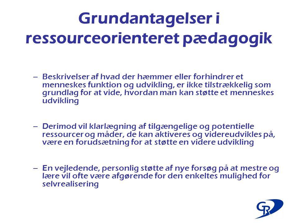 Grundantagelser i ressourceorienteret pædagogik