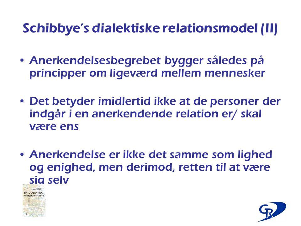 Schibbye's dialektiske relationsmodel (II)