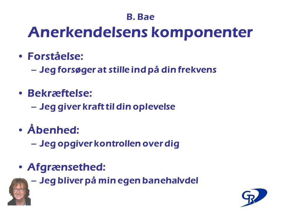 B. Bae Anerkendelsens komponenter