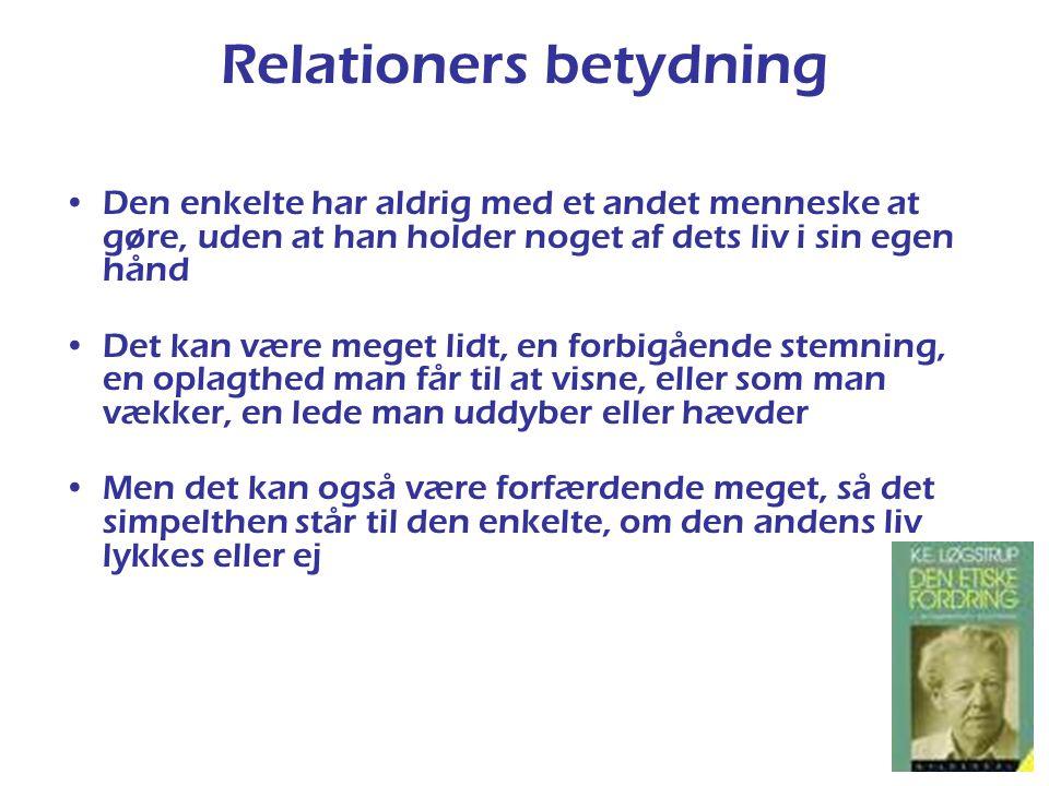 Relationers betydning