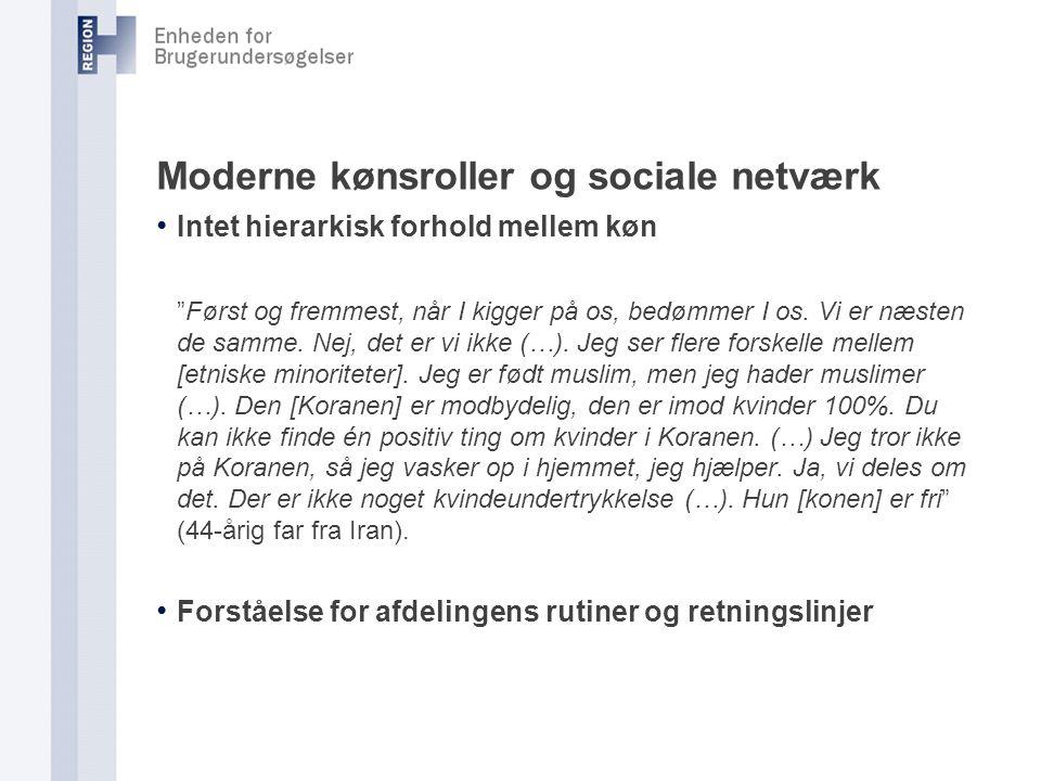 Moderne kønsroller og sociale netværk