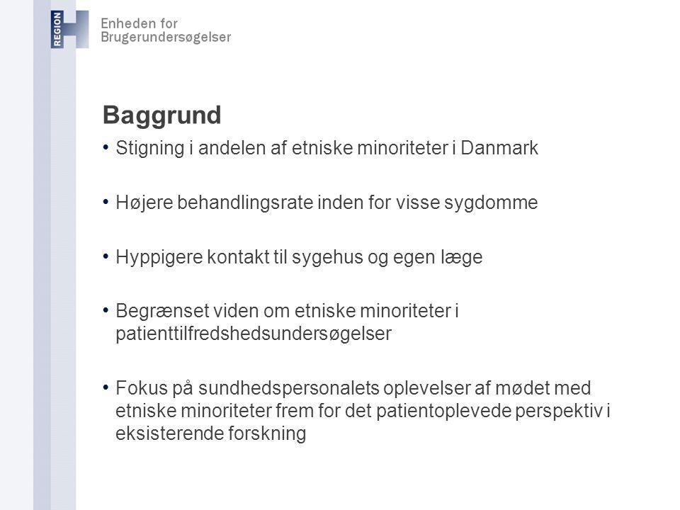 Baggrund Stigning i andelen af etniske minoriteter i Danmark