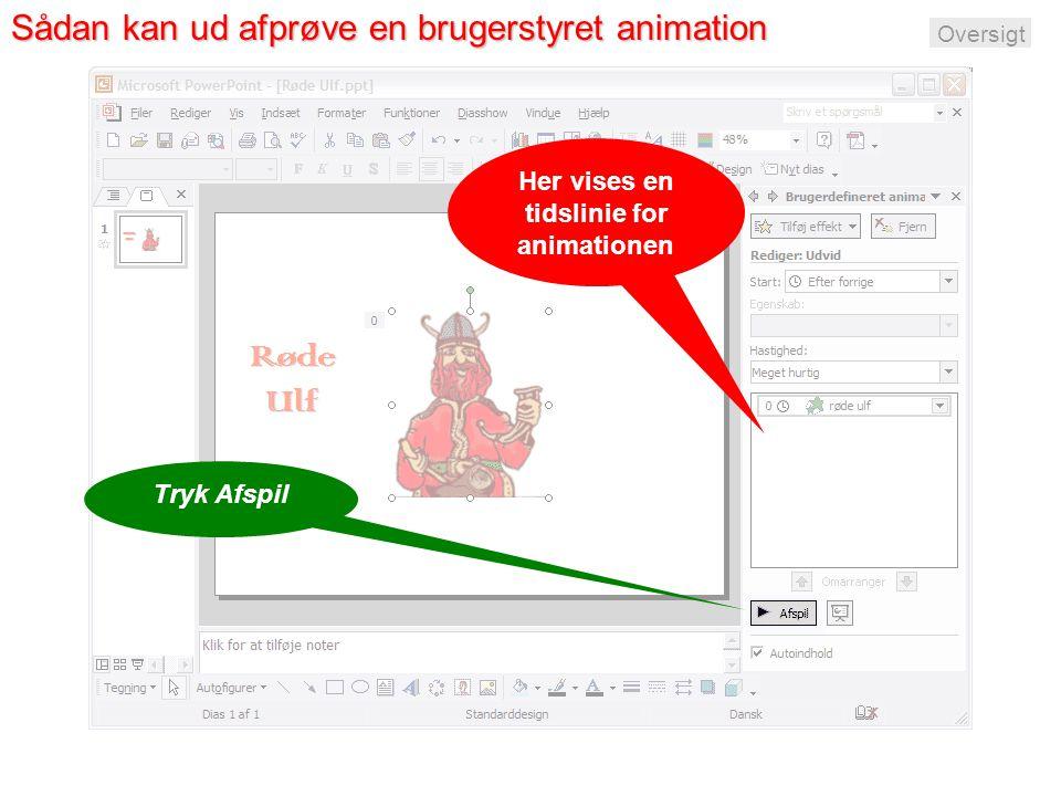 Sådan kan ud afprøve en brugerstyret animation