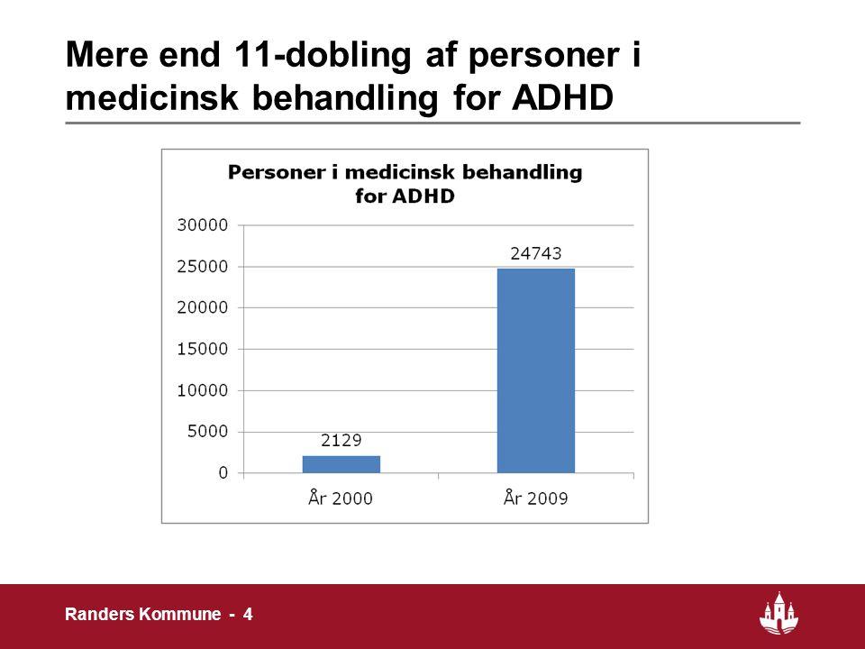 Mere end 11-dobling af personer i medicinsk behandling for ADHD