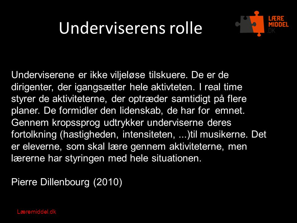 Underviserens rolle