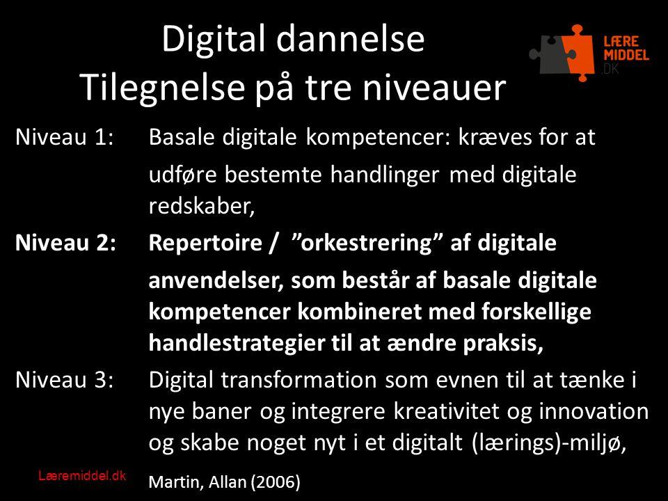 Digital dannelse Tilegnelse på tre niveauer