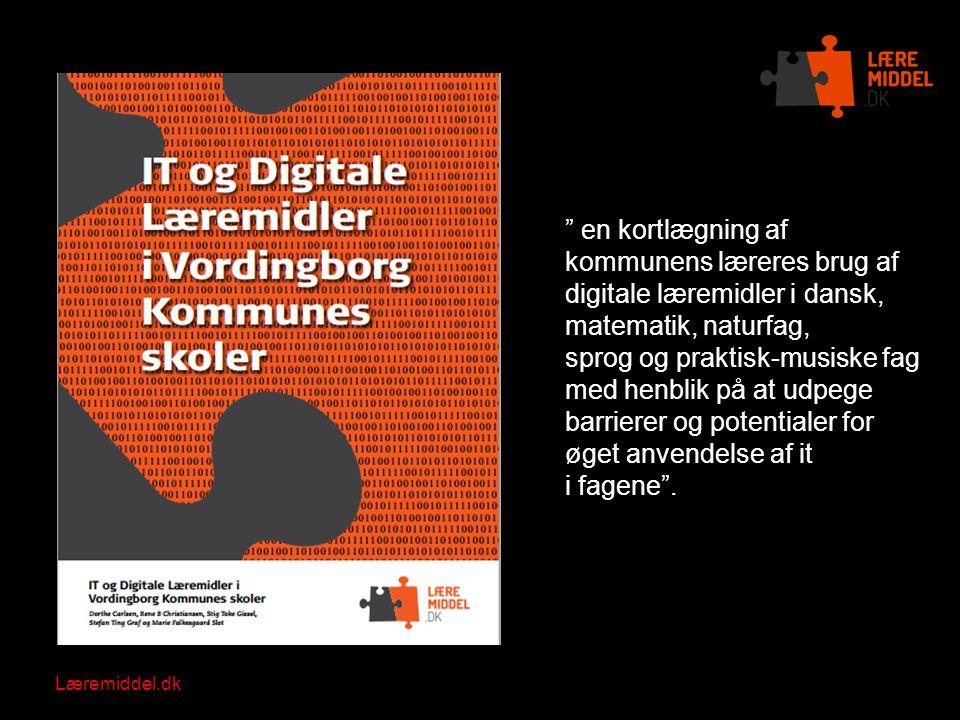 en kortlægning af kommunens læreres brug af digitale læremidler i dansk, matematik, naturfag,