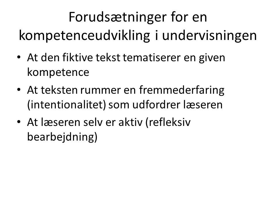 Forudsætninger for en kompetenceudvikling i undervisningen