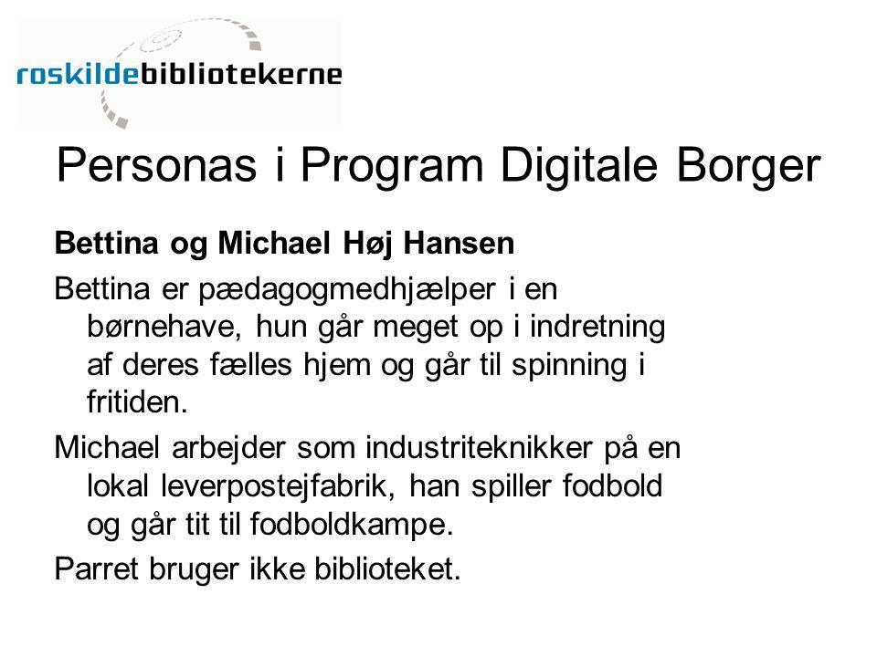 Personas i Program Digitale Borger