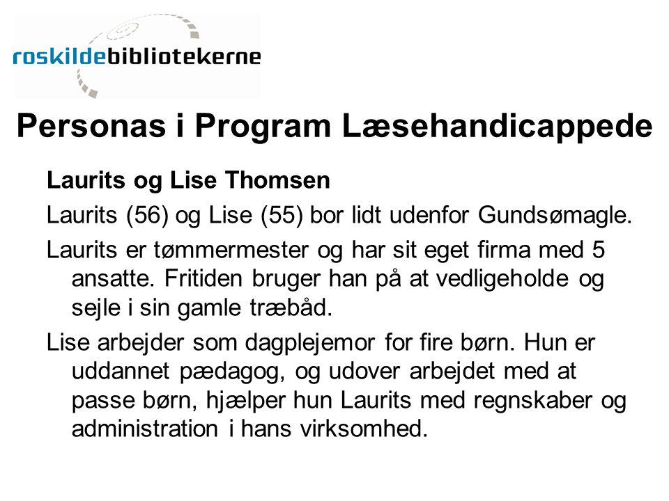 Personas i Program Læsehandicappede