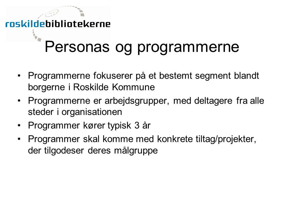 Personas og programmerne