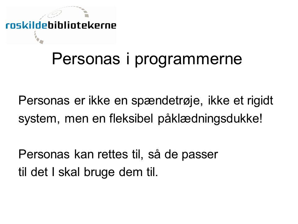Personas i programmerne