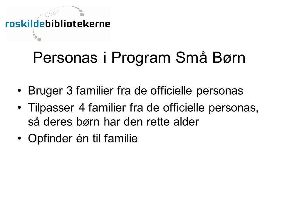Personas i Program Små Børn