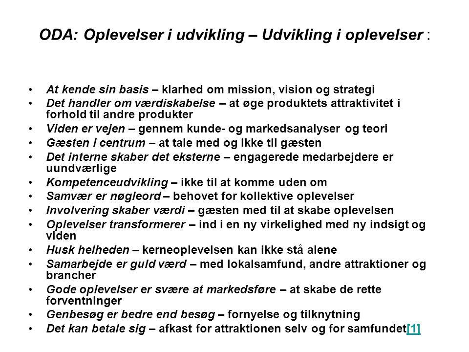 ODA: Oplevelser i udvikling – Udvikling i oplevelser :