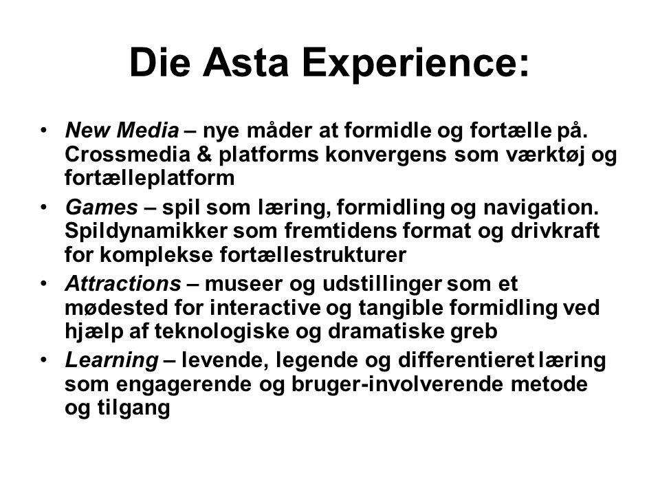 Die Asta Experience: New Media – nye måder at formidle og fortælle på. Crossmedia & platforms konvergens som værktøj og fortælleplatform.