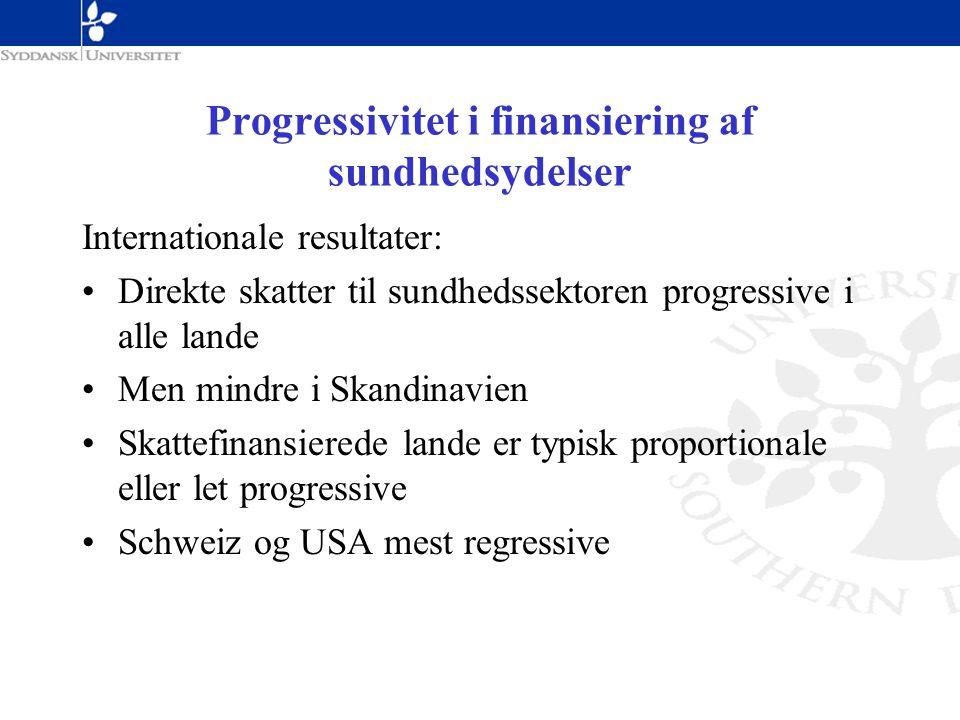 Progressivitet i finansiering af sundhedsydelser