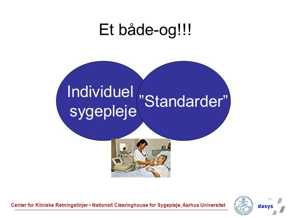 Et både-og!!! Individuel sygepleje Standarder