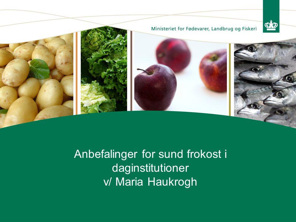 Anbefalinger for sund frokost i daginstitutioner v/ Maria Haukrogh