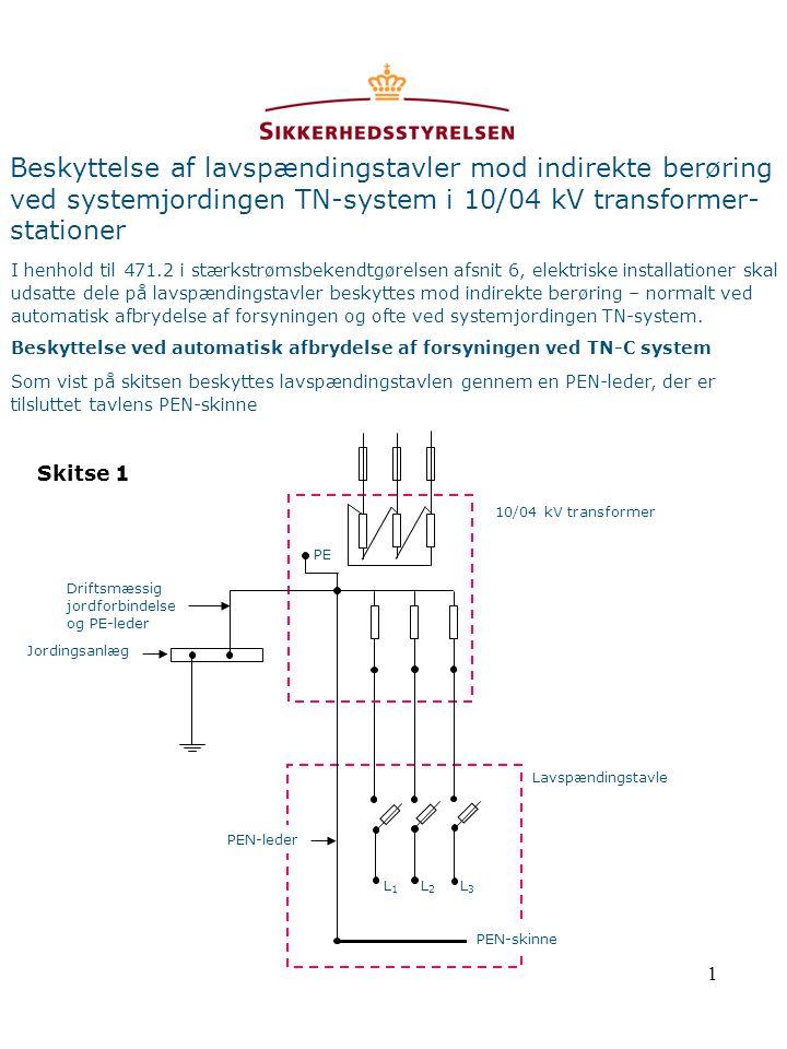Beskyttelse af lavspændingstavler mod indirekte berøring ved systemjordingen TN-system i 10/04 kV transformer-stationer