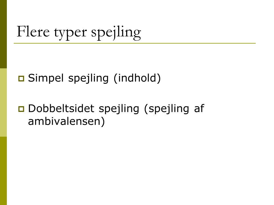 Flere typer spejling Simpel spejling (indhold)