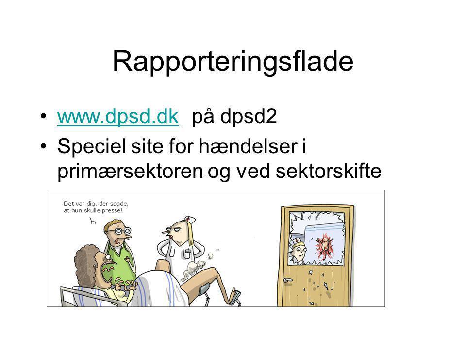 Rapporteringsflade www.dpsd.dk på dpsd2