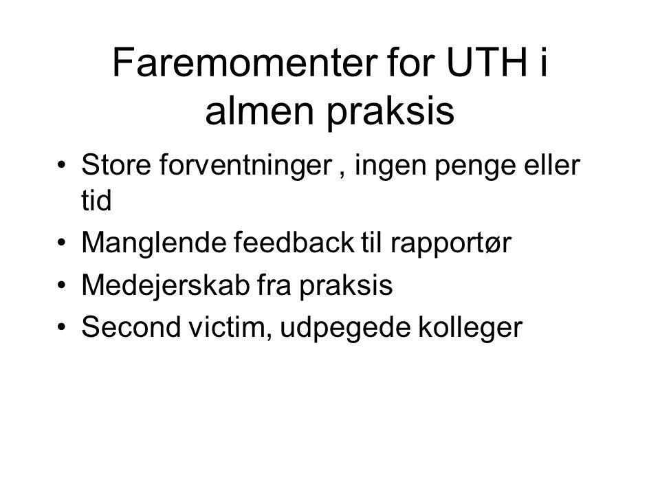 Faremomenter for UTH i almen praksis