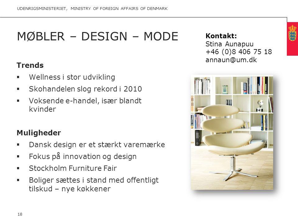 Møbler – Design – mode Trends Wellness i stor udvikling