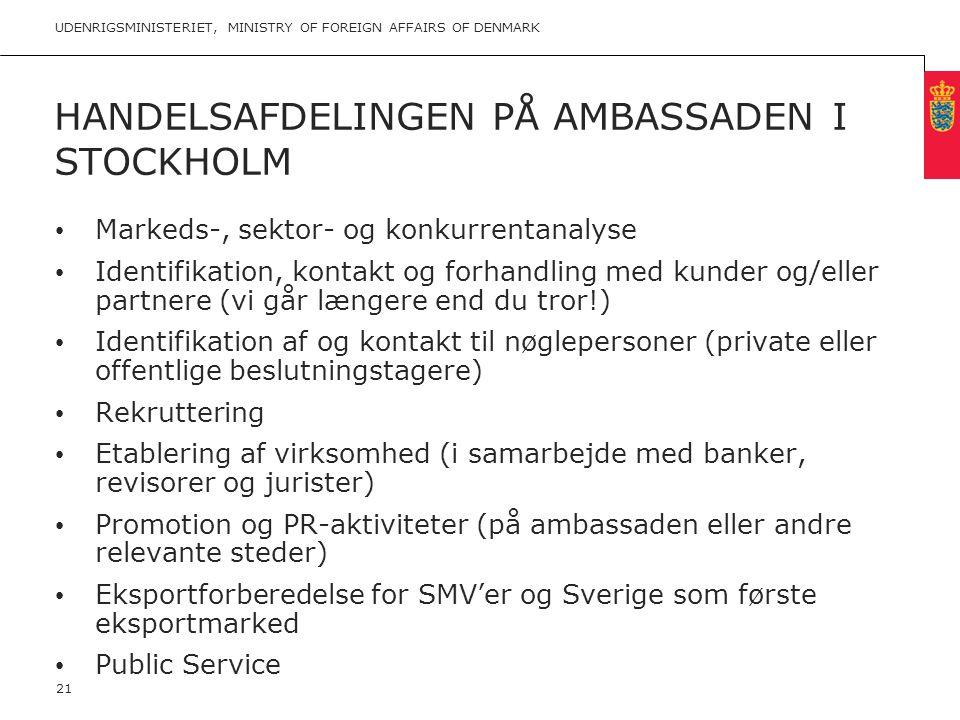 Handelsafdelingen på ambassaden i Stockholm