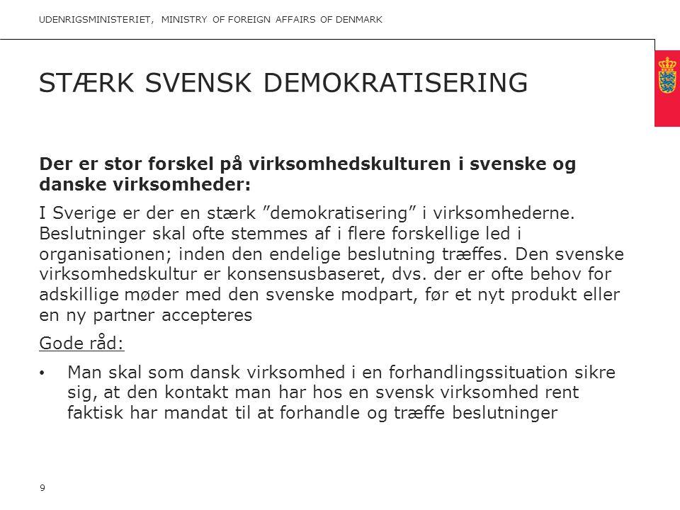 Stærk svensk demokratisering