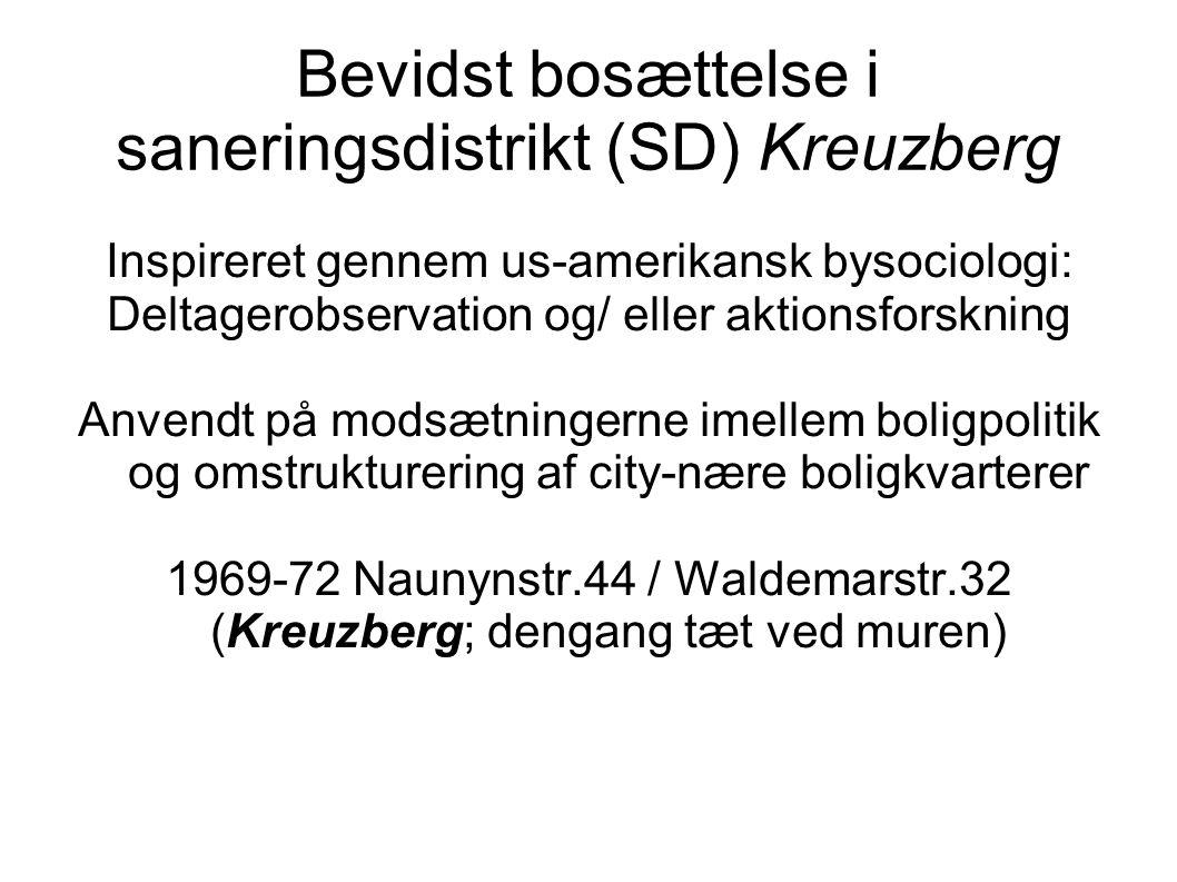 Bevidst bosættelse i saneringsdistrikt (SD) Kreuzberg