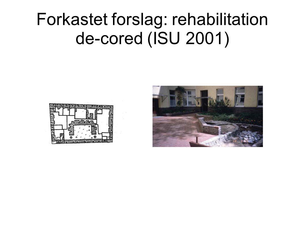 Forkastet forslag: rehabilitation de-cored (ISU 2001)