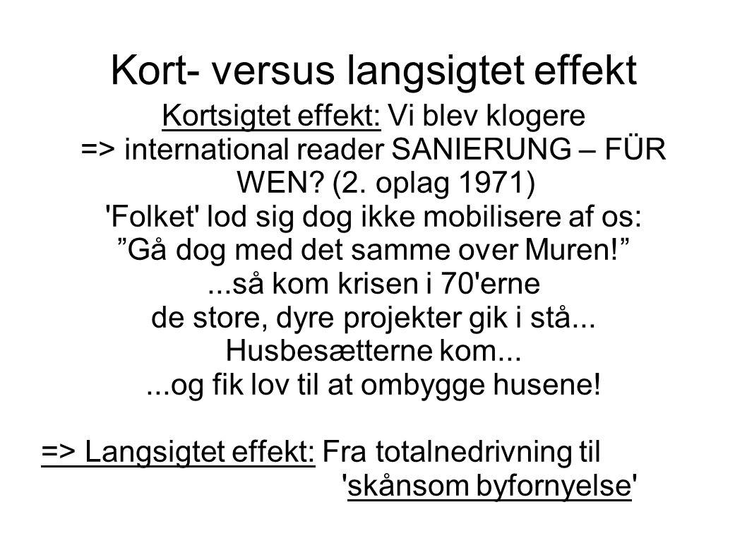 Kort- versus langsigtet effekt