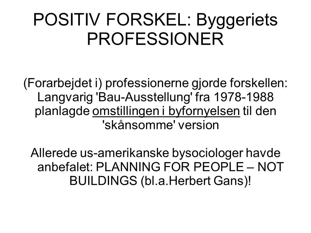 POSITIV FORSKEL: Byggeriets PROFESSIONER
