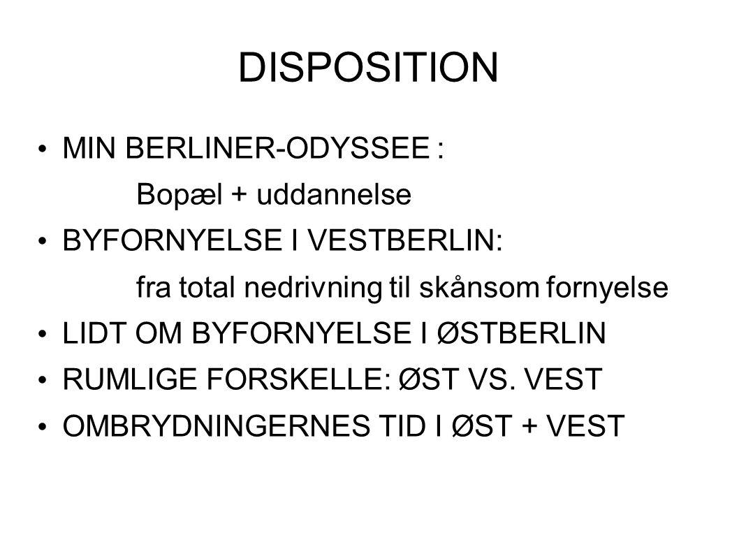 DISPOSITION MIN BERLINER-ODYSSEE : Bopæl + uddannelse