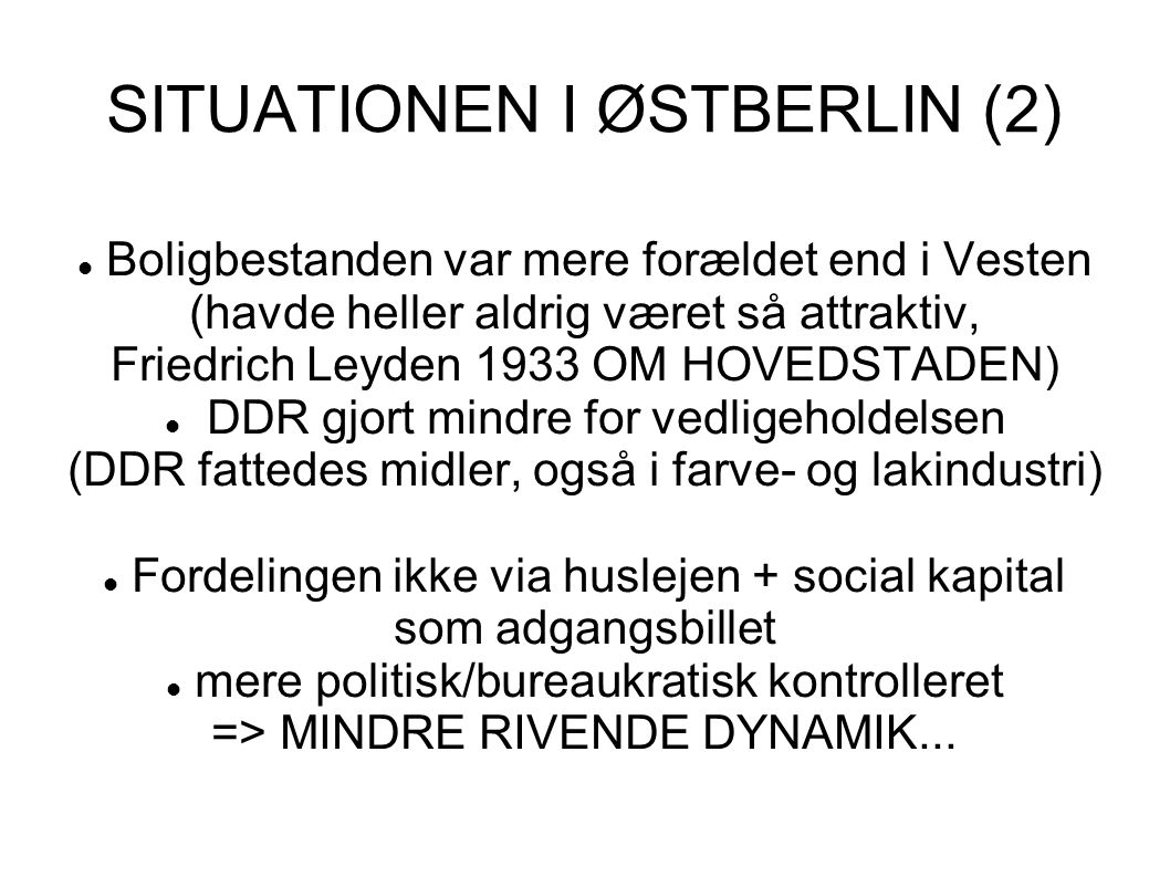 SITUATIONEN I ØSTBERLIN (2)