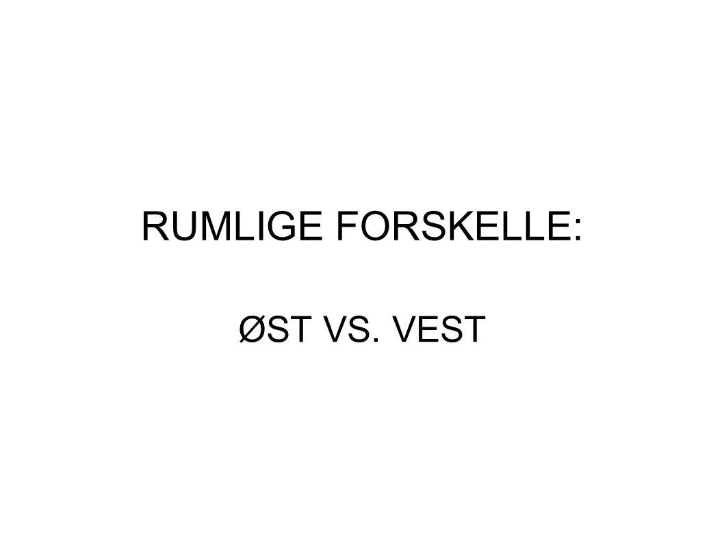 RUMLIGE FORSKELLE: ØST VS. VEST