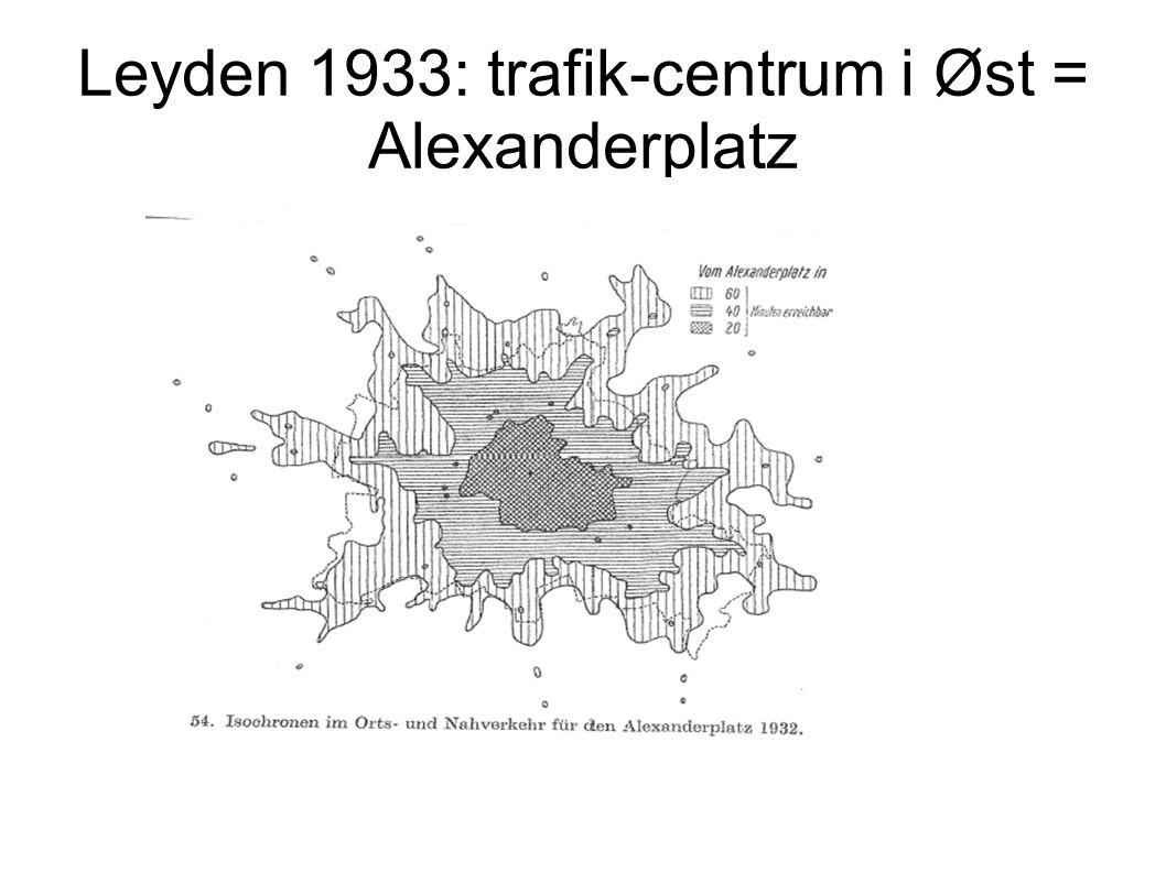 Leyden 1933: trafik-centrum i Øst = Alexanderplatz