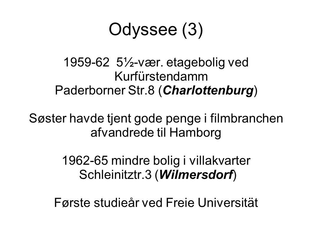 Odyssee (3) 1959-62 5½-vær. etagebolig ved Kurfürstendamm