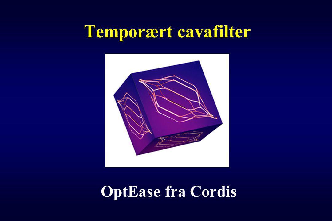 Temporært cavafilter OptEase fra Cordis