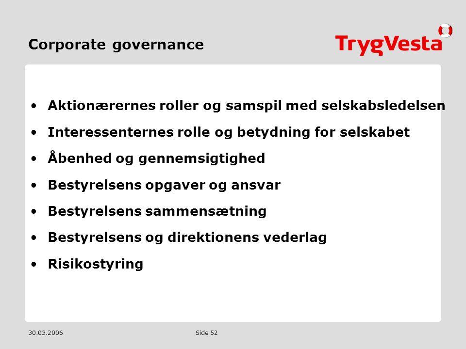 Corporate governance Aktionærernes roller og samspil med selskabsledelsen. Interessenternes rolle og betydning for selskabet.
