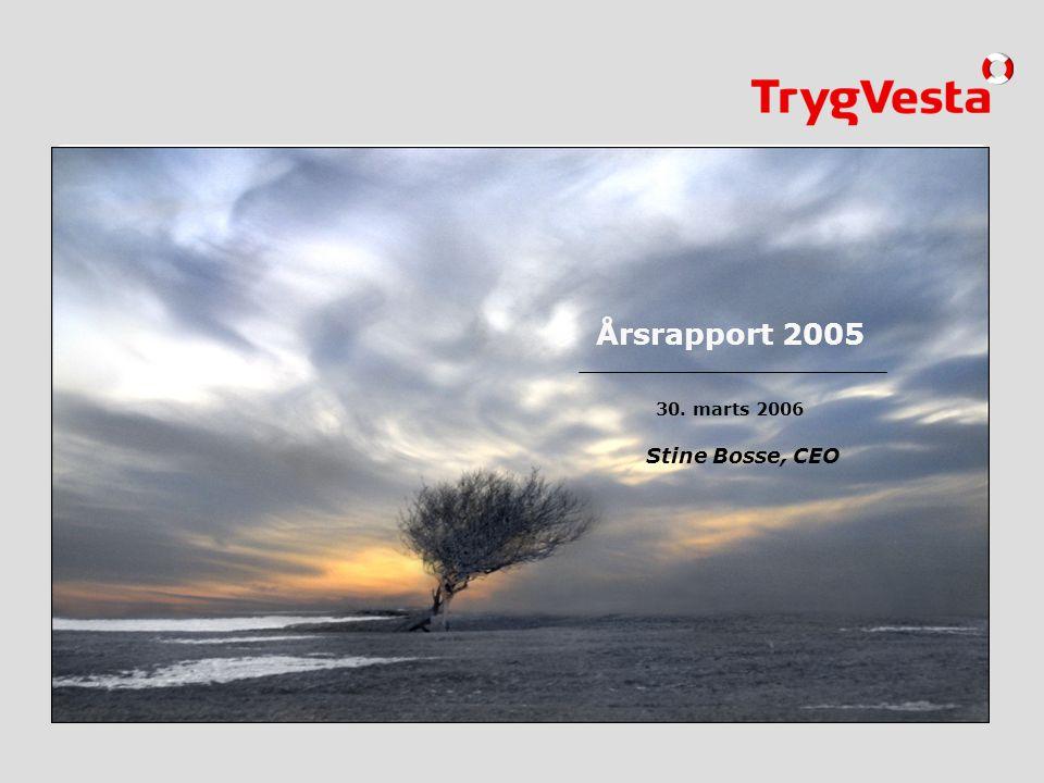 Årsrapport 2005 Stine Bosse, CEO 01.01.2005 30. marts 2006