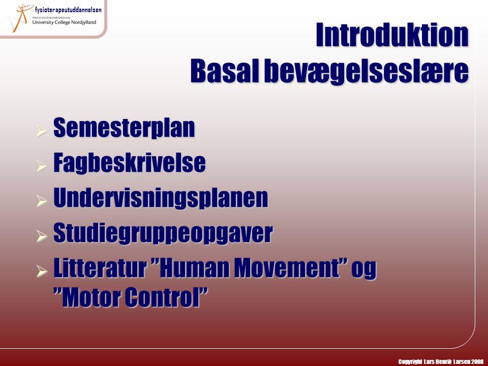 Introduktion Basal bevægelseslære